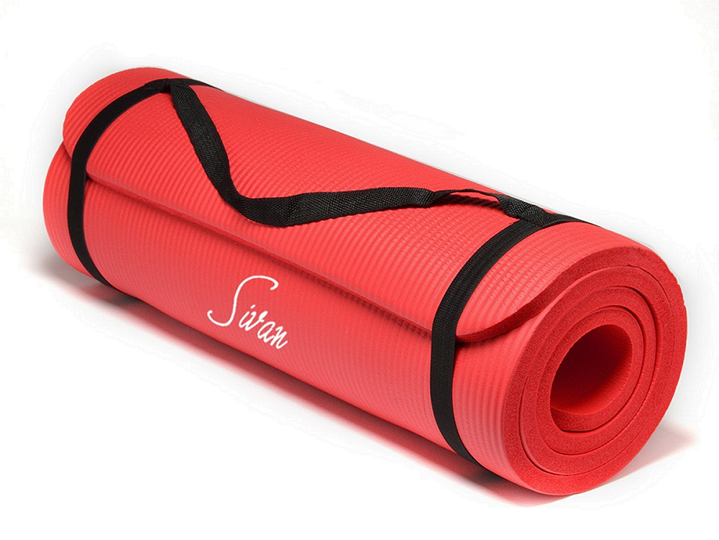Siven 12mm Yoga Mat, red