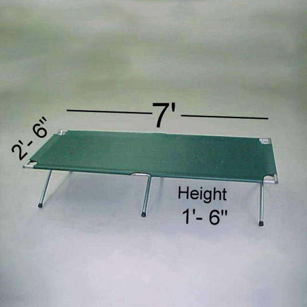 camping cot size