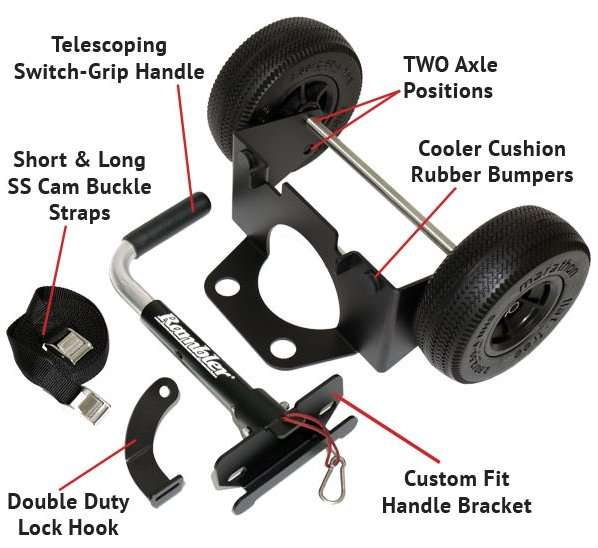 Rambler cooler wheels