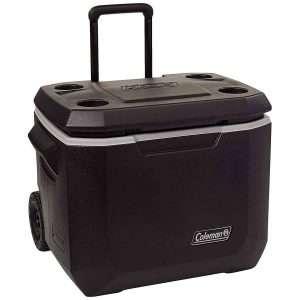 coleman 50-quart wheeled cooler