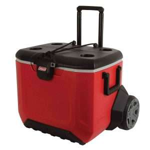 coleman rugged at wheeled cooler