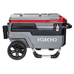 Igloo trailmate liddup wheeled lighted 70 quart cooler