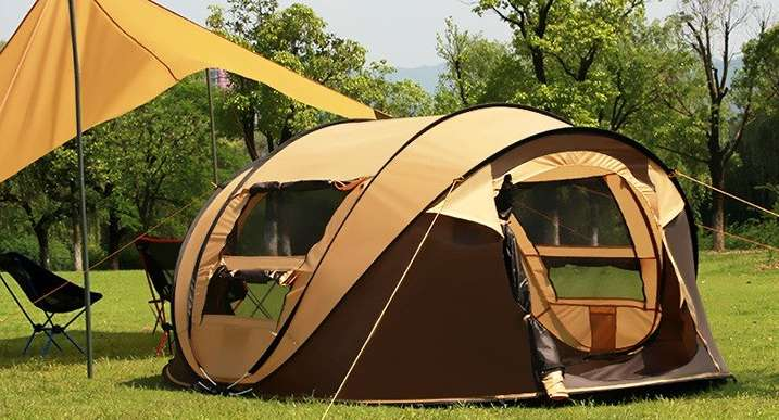 2 Person Rainproof Instant Camping Tent Automatic Waterproof Pop up Tents Summer Outdoor Zenph Family Camping Tents