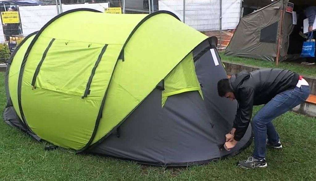 pop up tent installation