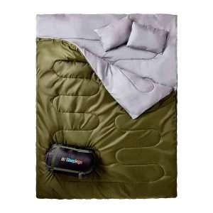 sleepingo double sleeping bag for backpacking