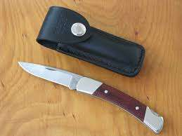 Buck Knives 501 SQUIRE Folding Pocket Knife w/ Leather Sheath
