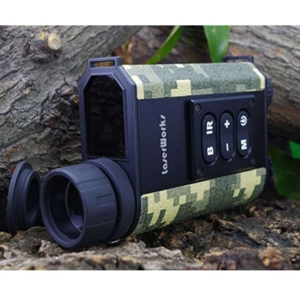 LaserWorks LRNV009 DAY AND NIGHT Multifunction Laser Ranging Night Vision Monocular