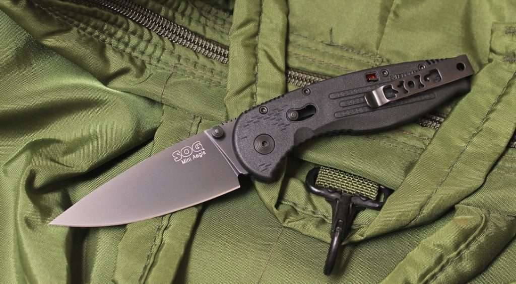 SOG Folding Knife Flash II Spring Assisted Pocket Knife