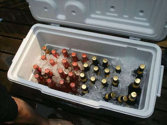 drinks in the cooler