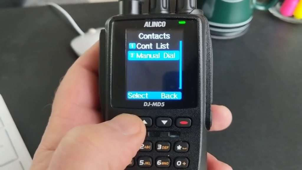 contacts on handheld gps