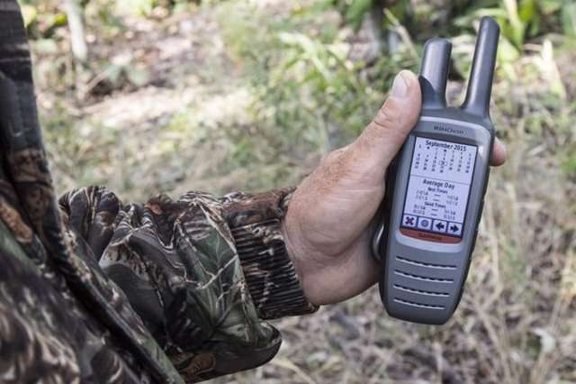 Handheld GPS in hand