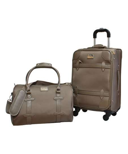 two duffel bags with different types of carrying