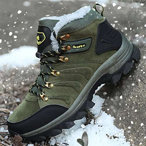 GOMNEAR Men's Hiking Boots High Top Outdoor Trekking Shoes