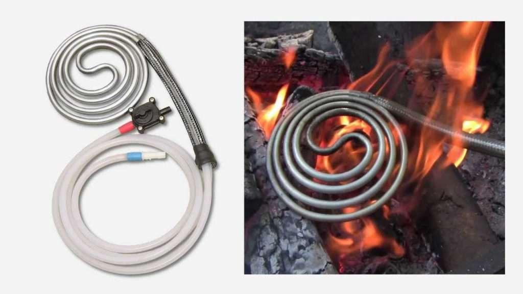 campfire shower heater