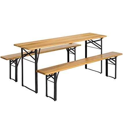 Beckworth & Co. SMART FLIP Bamboo Portable Outdoor Picnic Table
