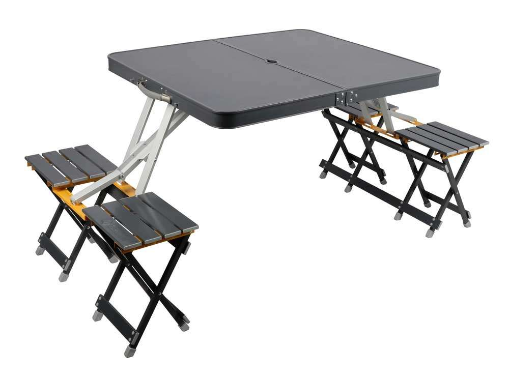 Camping table with chair
