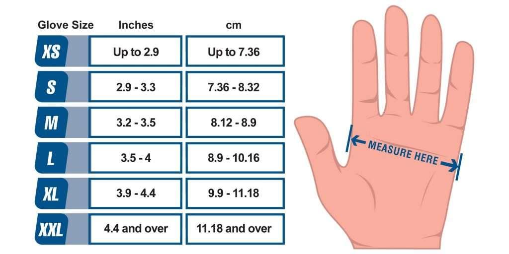 glove size chart