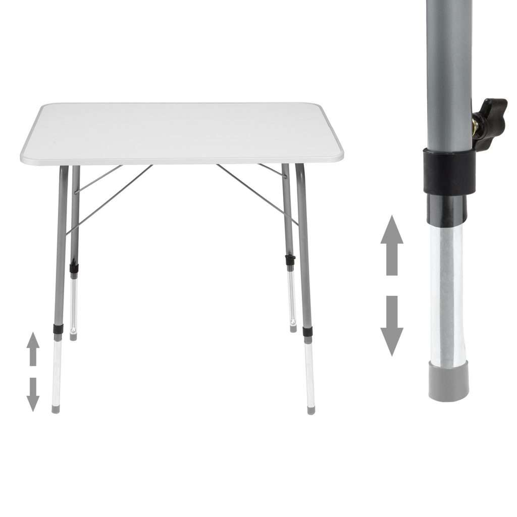 Camping table Height Adjustability