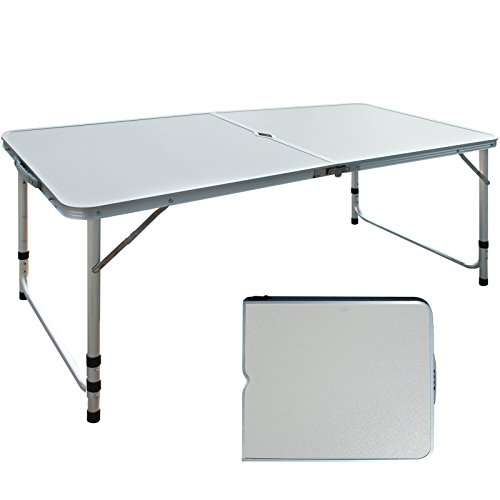KING CAMP Aluminum Alloy 3-Fold Camp Table with Carry Bag