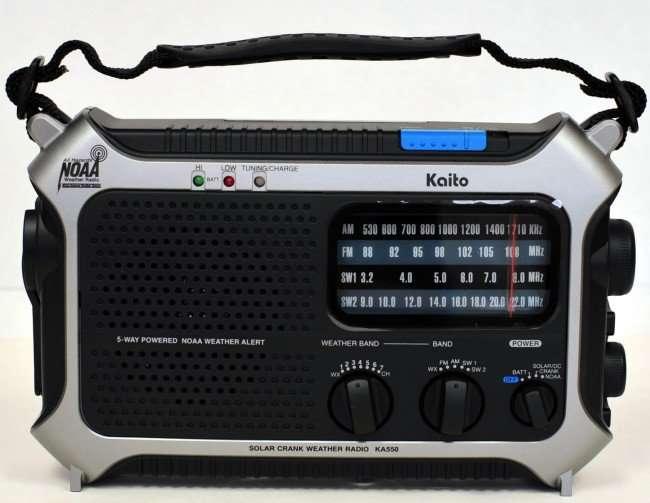 Kaito KA550 5-Way Powered AM/FM Shortwave Emergency Radio