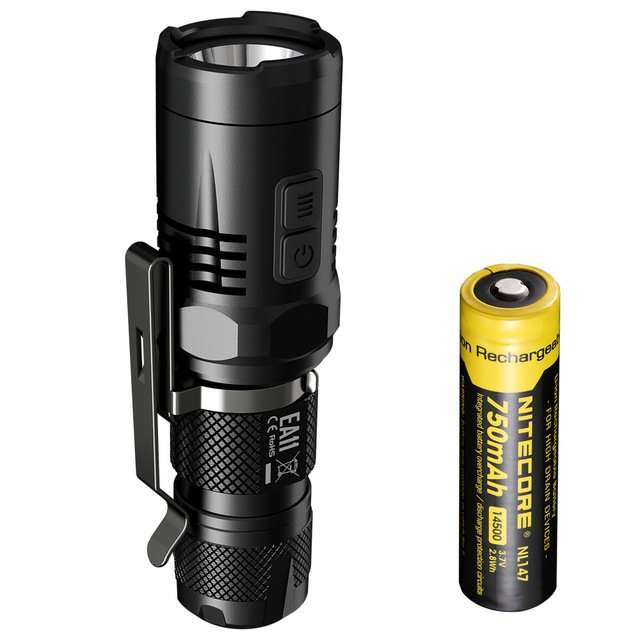 NITECORE EA11 14500 CREE XM-L2 U2 900LM LED FLASHLIGHT