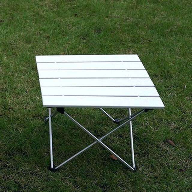PORLAE Foldable Portable Aluminum Table with Carry Bag