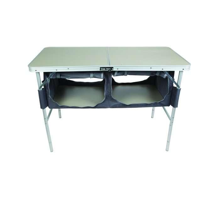 SEATOPIA Aluminum Folding Table with Storage Organizer
