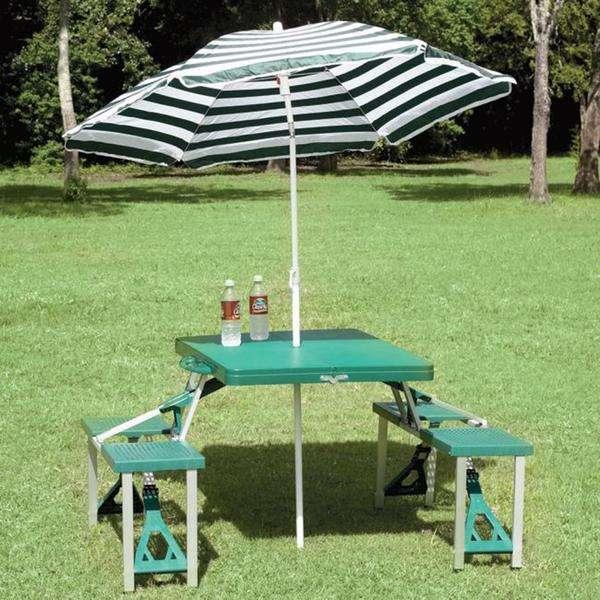 STANSPORT Picnic Table & Umbrella Combo