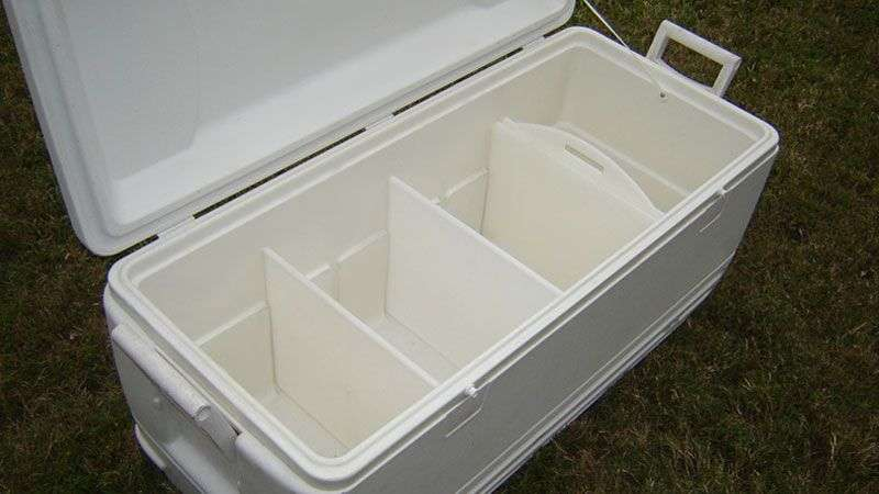 individual compartments in the cooler