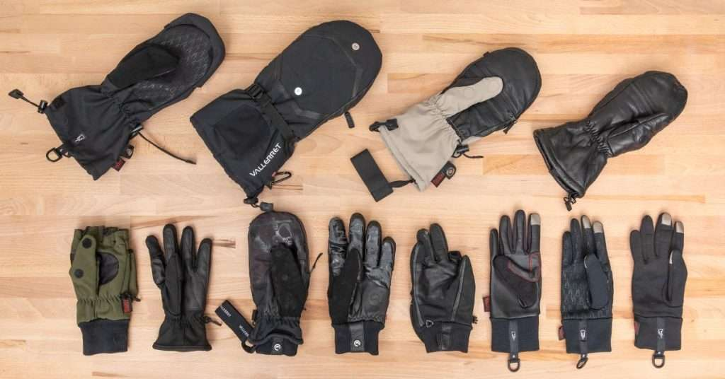 many different gloves