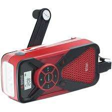 emergency radio with hand crank