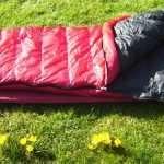 Western Mountaineering SUMMERLITE sleeping bag on the grass