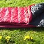 Western Mountaineering SUMMERLITE sleeping bag on the grass