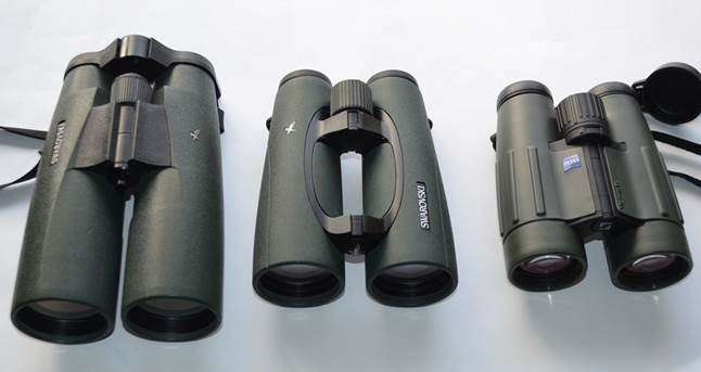 3 different binoculars