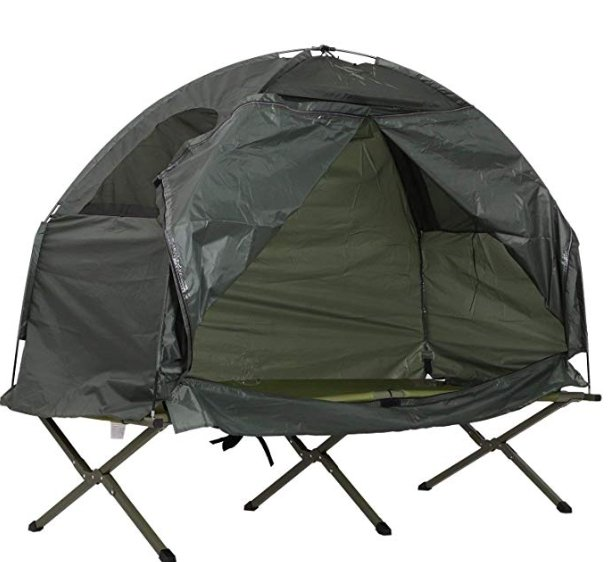 Tidyard Pop Up Folding Tent Cot with Elevated Cot