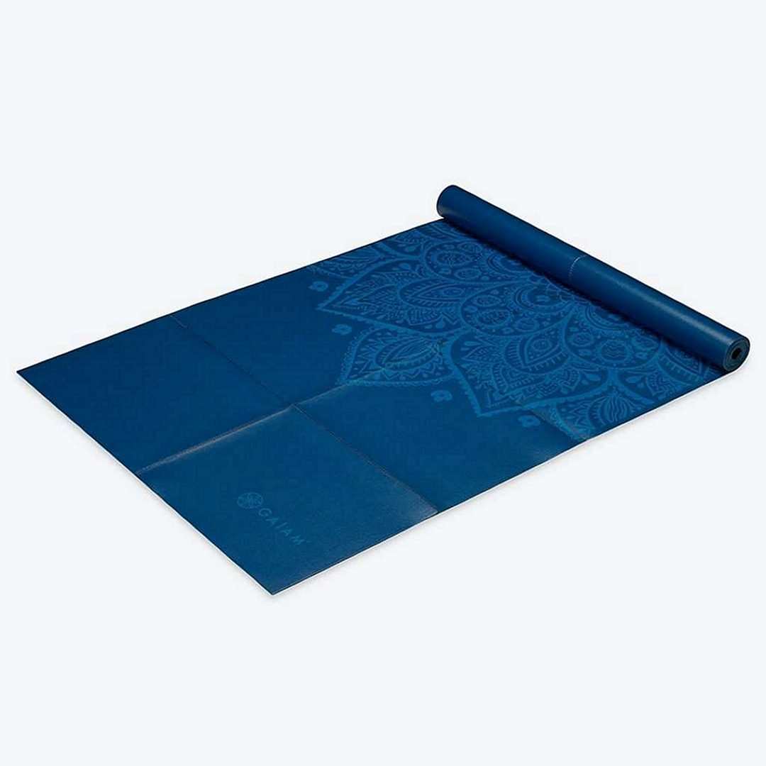 Gaiam Yoga MAt with PAtterns, Blue