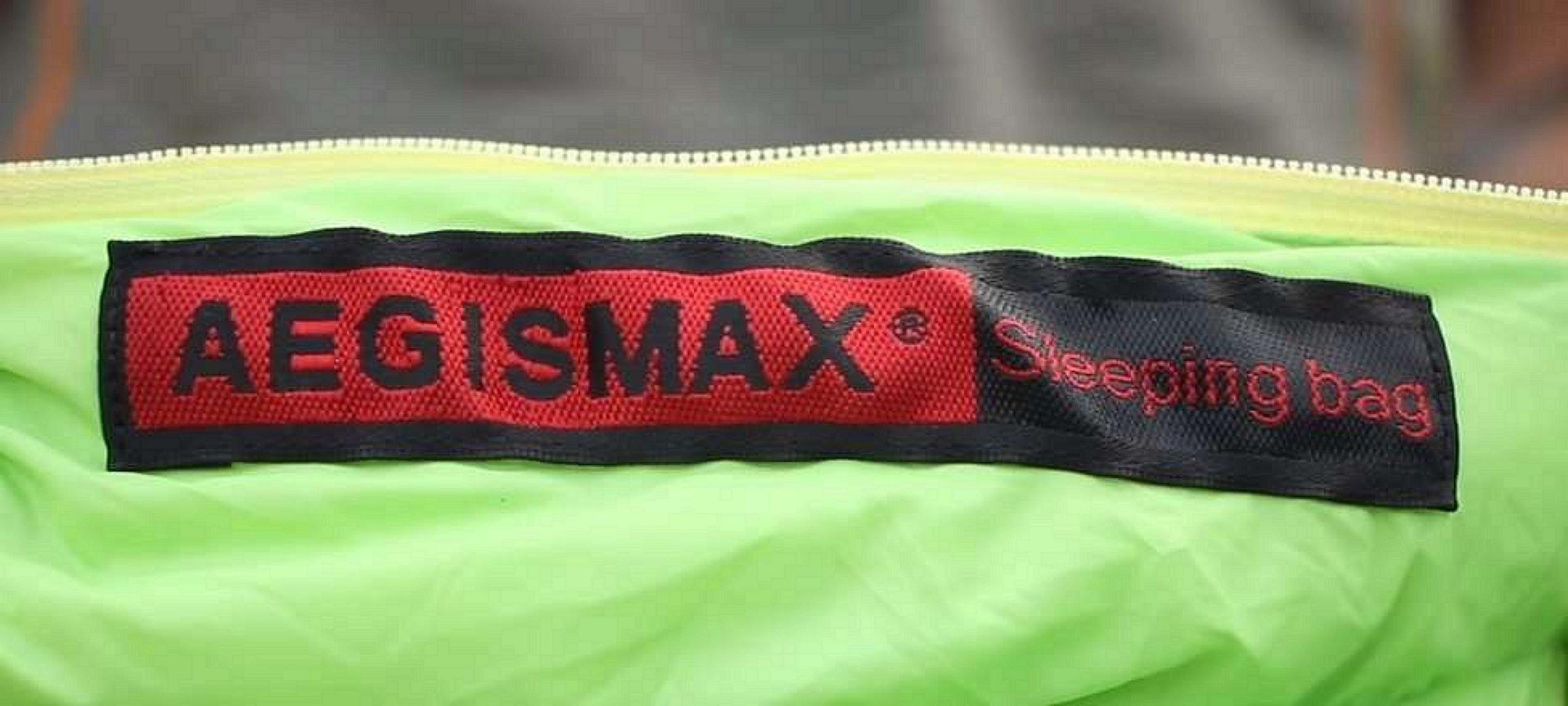 Aegismax Zipper and Logo Close Up View