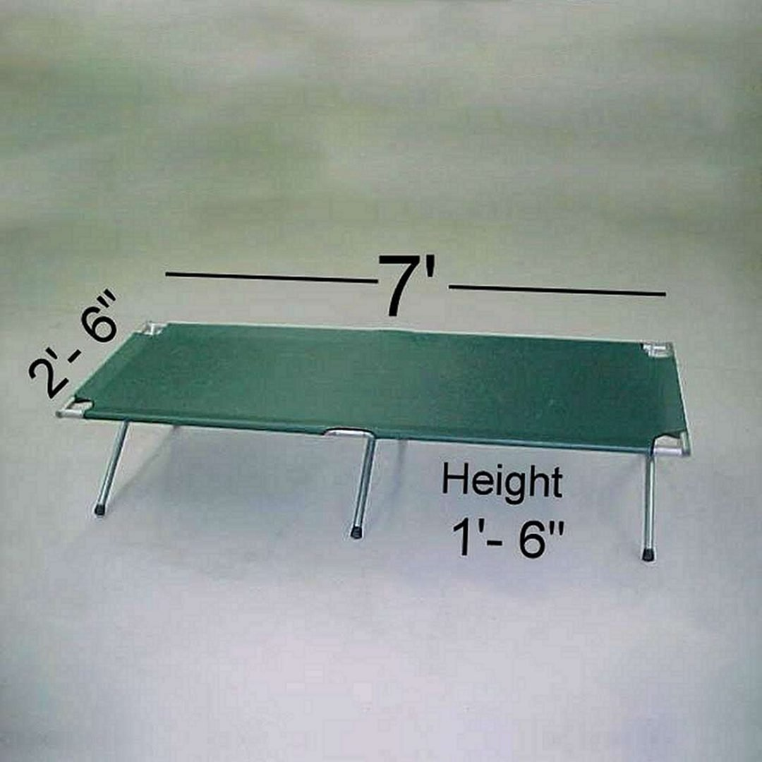 camping cot measuring sizes