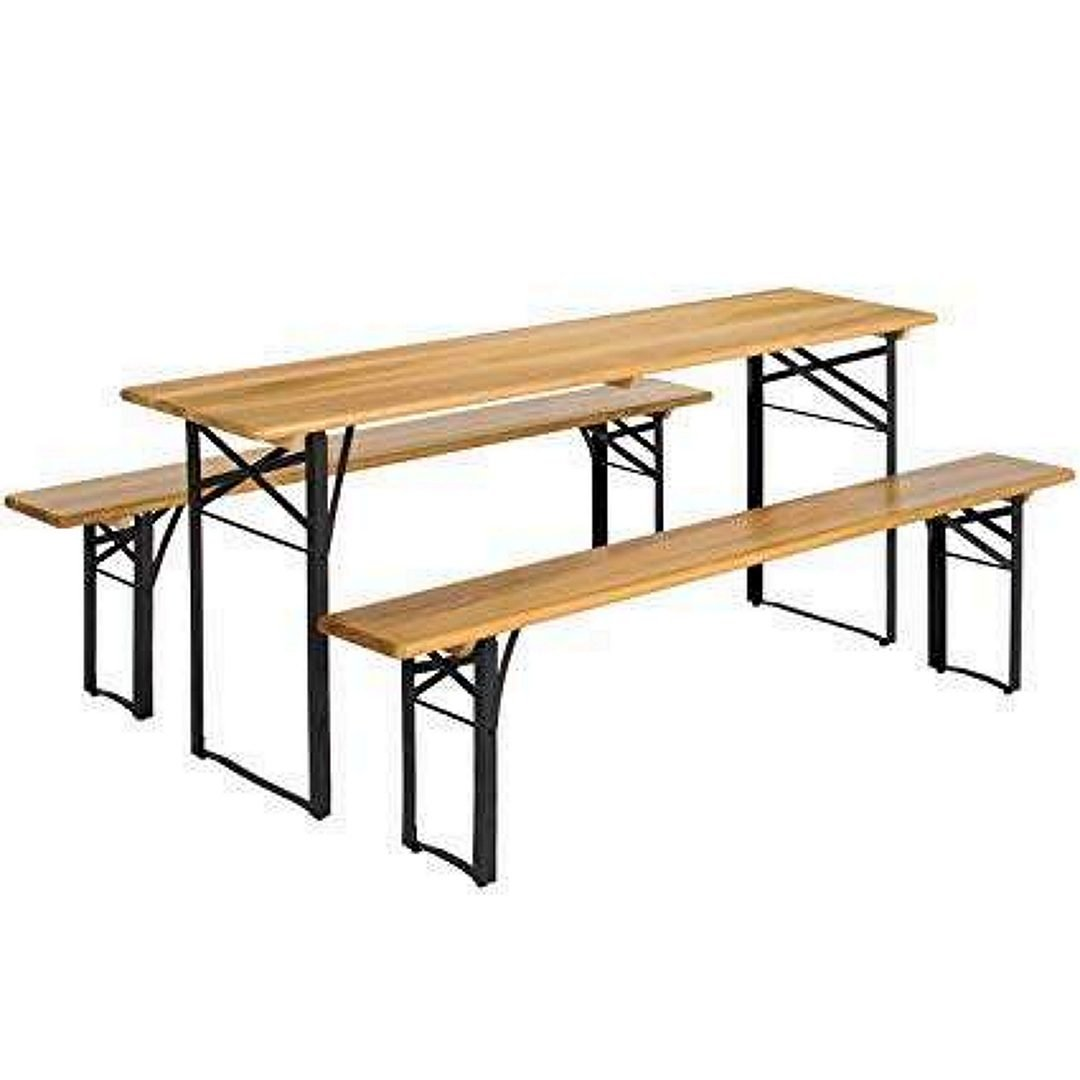 Beckworth & Co. SMART FLIP Bamboo Portable Outdoor Picnic Folding Table