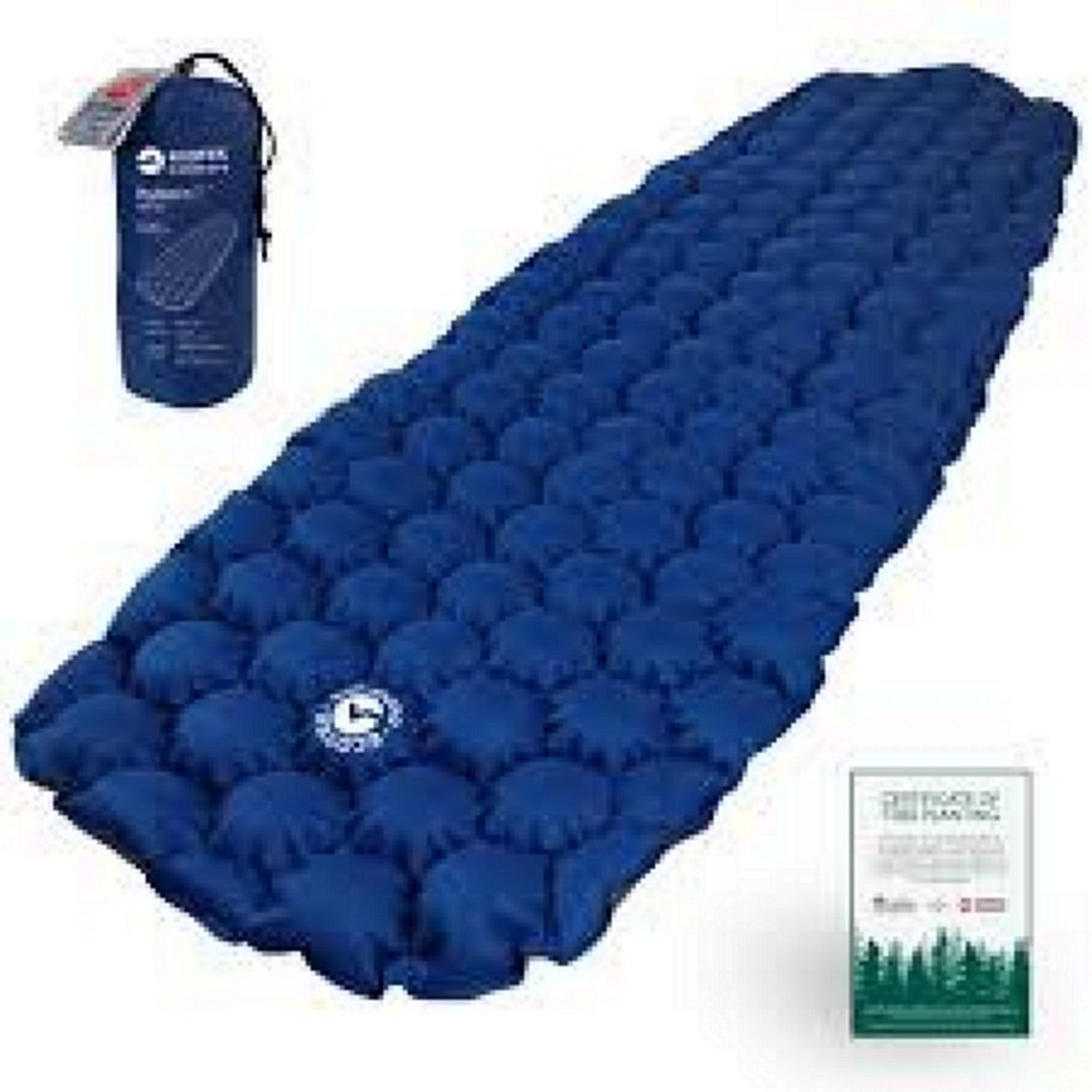 ECOTEK Outdoors Hybern8 Ultralight Inflatable Sleeping Pad, Blue
