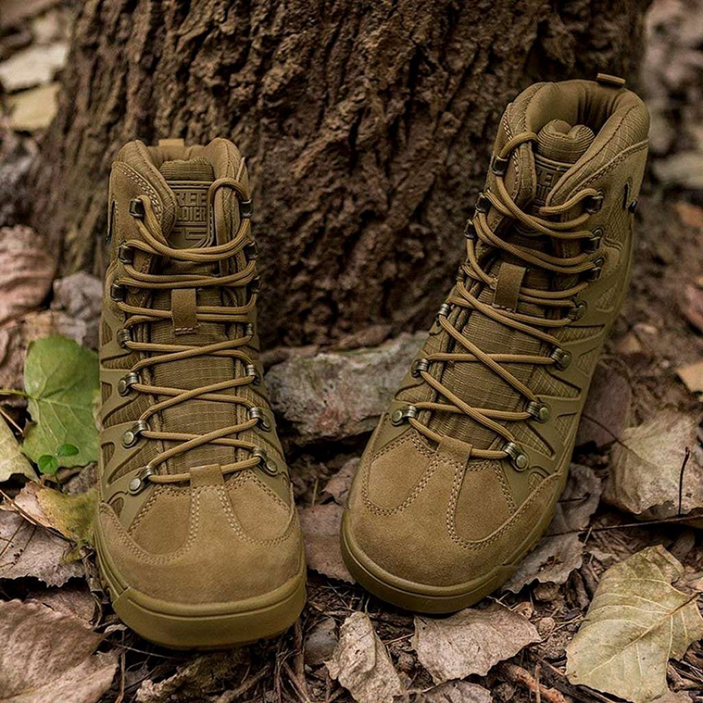 FREE SOLDIER Men's Military Tactical Hiking Boots
