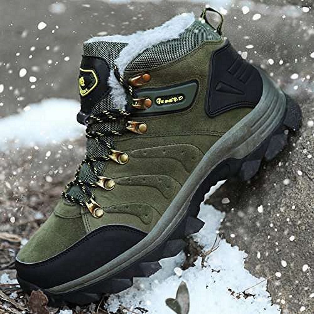 GOMNEAR Men's Hiking Boots High Top Outdoor Shoes