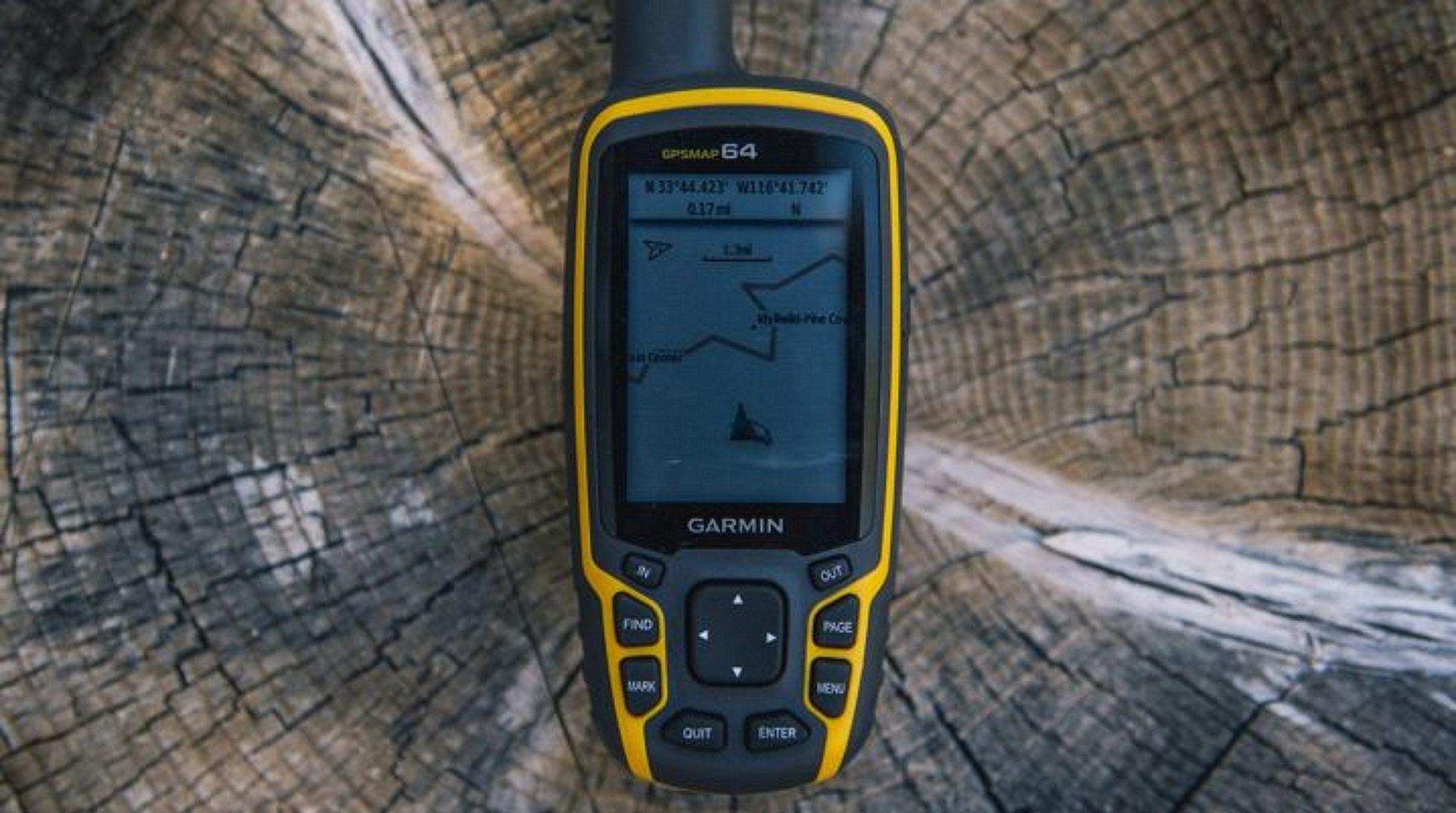 Garmin GPSMAP 64 in use