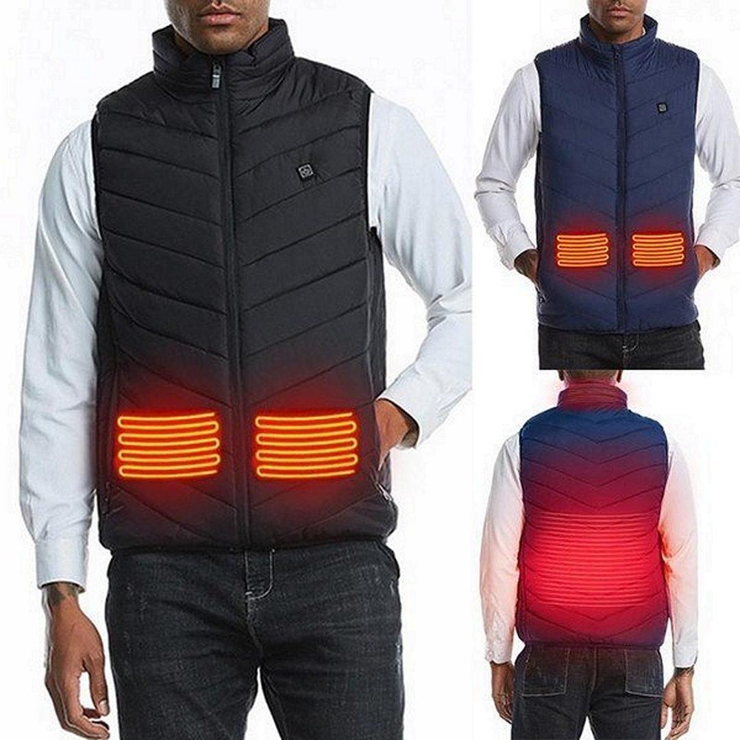 Heated vest with heating zones
