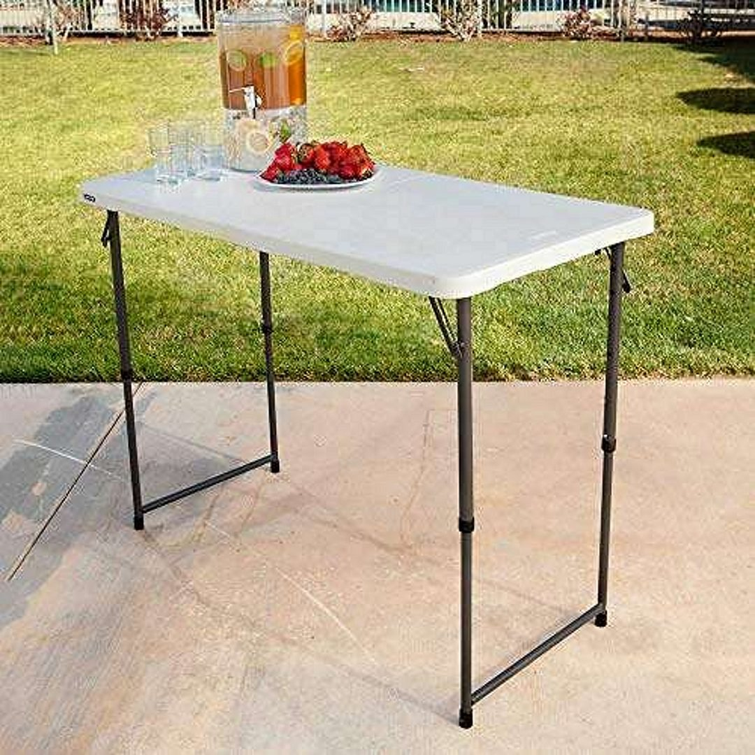 LIFETIME 4428 Height-Adjustable Camping & Utility Folding Table