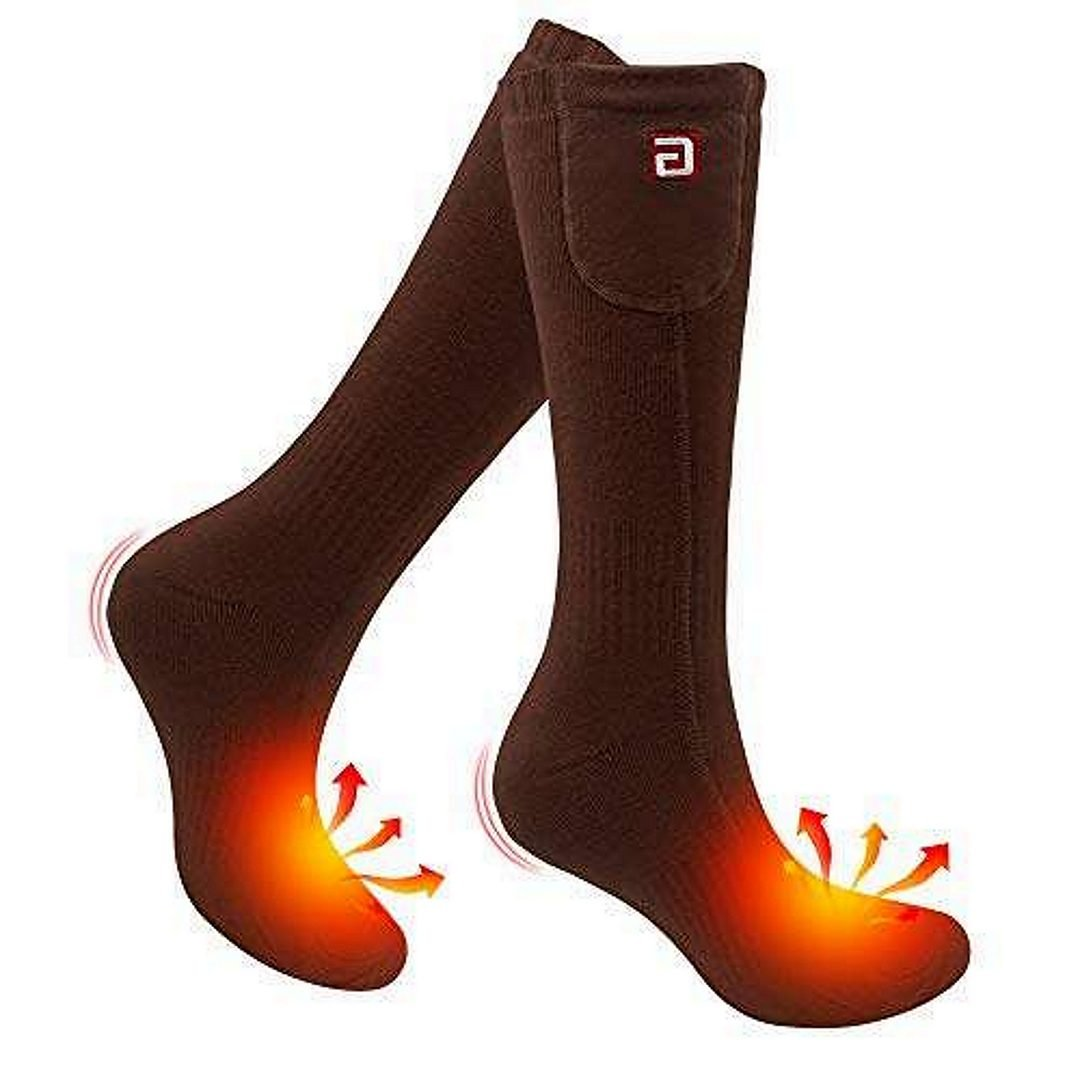 Rabbitroom Unisex Rechargeable Socks, brown