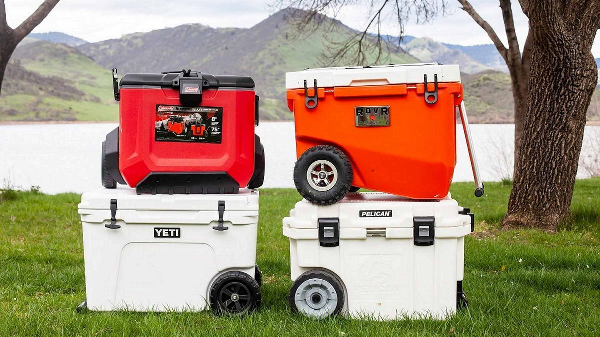 4 Roto-molded Coolers