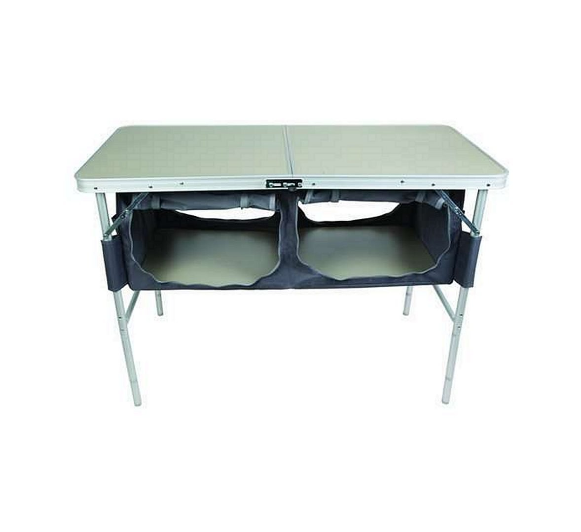 SEATOPIA Aluminum Folding Table with Storage Organizer