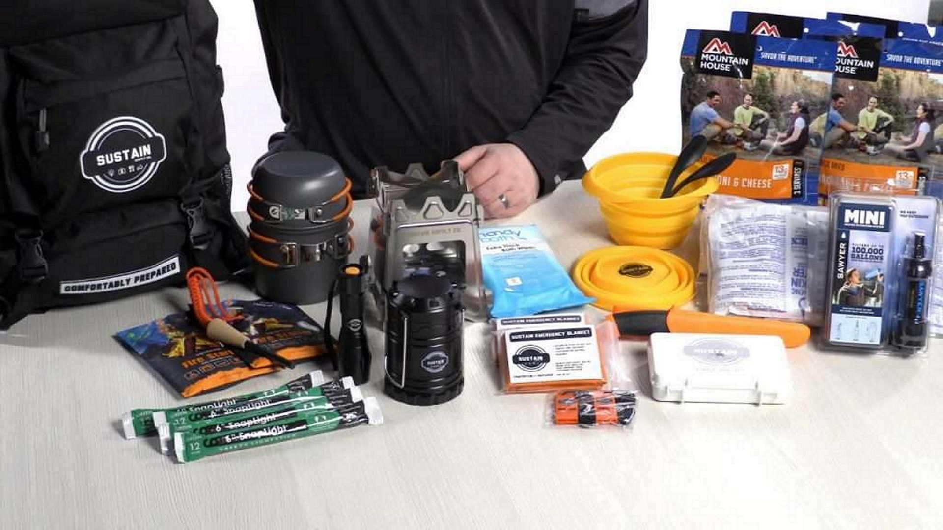 Sustain Supply Co. ESSENTIAL 2 Two Person 72 hours Emergency Survival Kit