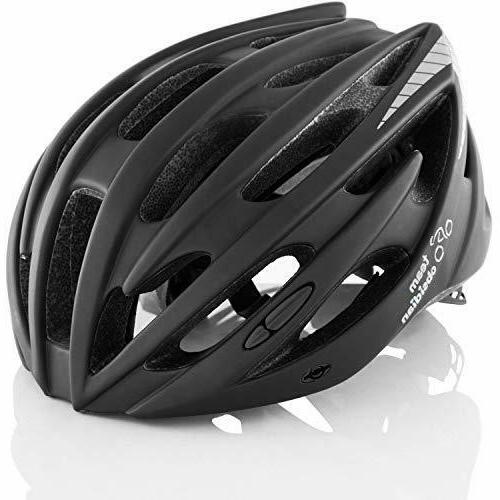 TeamObsidian Airflow Bike Helmet with in-Molded Reinforcing Skeleton for Added Protection
